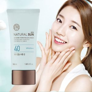 Kem Chống Nắng The Face Shop Natural No Shine Hydrating Sun Cream SPF40 PA+++